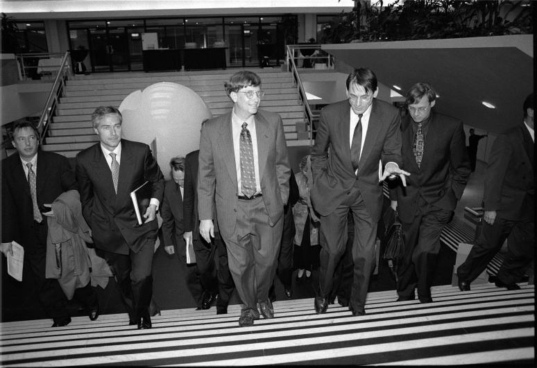 • Bill Gates and Jo Ritzen, november 5 1996