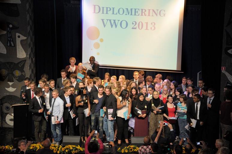 • diploma-uitreiking VWO